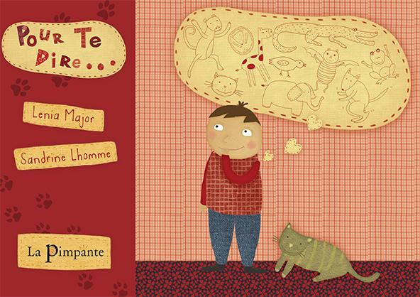Pour te dire, album illustré pour les 4-7 ans plein de tendresse et d'imagination. Un petit garçon se demande comment il ferait un bisou à sa maman s'il était un ours, un crocodile, un chat, une chauve-souris...